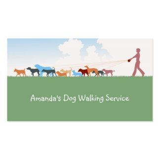 Dog Walking Service Business Card