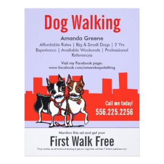 Dog Walking Walker Boston Terriers Coupon Ad Flyers