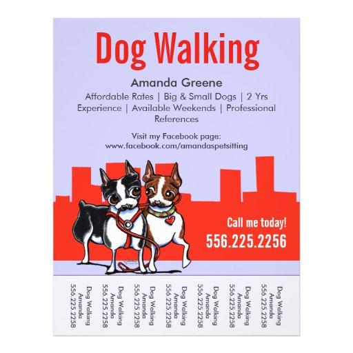 dog walking flyer templates  dog walking promotional flyers