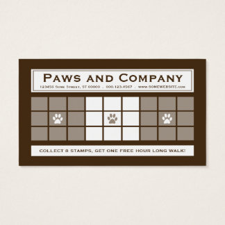 DOG WALKS 3dots Loyalty Program Business Card