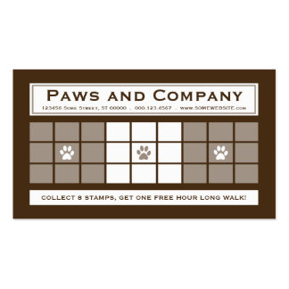 DOG WALKS 3dots Loyalty Program Pack Of Standard Business Cards