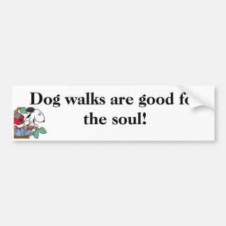 Dog walks are good for the soul! Sticker