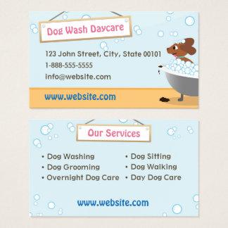 Dog Wash Daycare Business Card