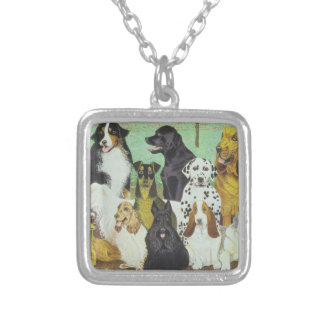 Dog Watch Silver Plated Necklace