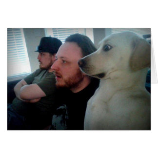 Dog Watching with Friends Card