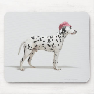 Dog wearing a hat mouse mat