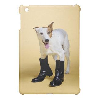 Dog wearing boots iPad mini cases