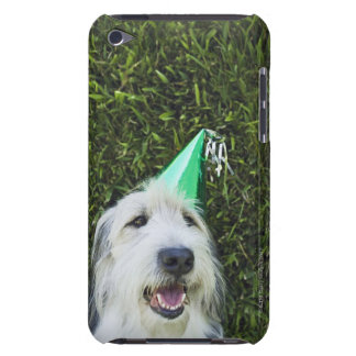 Dog wearing party hat iPod touch cases