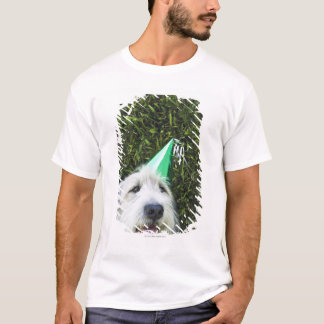 Dog wearing party hat T-Shirt