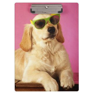 Dog wearing sunglasses 2 clipboard