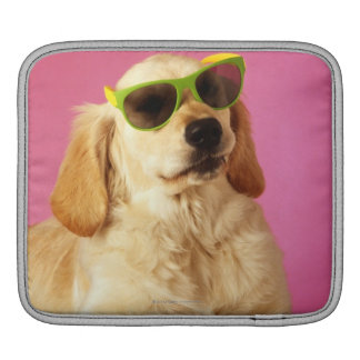 Dog wearing sunglasses 2 iPad sleeve