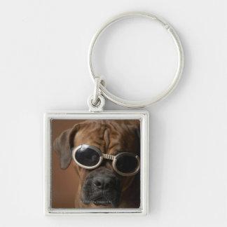 Dog wearing sunglasses key chains