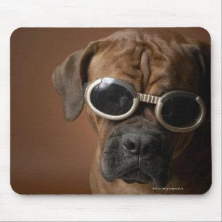 Dog wearing sunglasses mouse mat