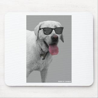 Dog wearing sunglasses mouse pad