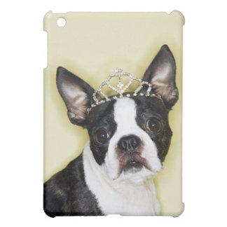 Dog wearing tiara cover for the iPad mini