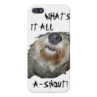 "Dog ""WHAT'S IT ALL A-SNOUT?"" iPhone 5 Savvy Case iPhone 5 Covers"