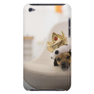 Dog with a crown barely there iPod case