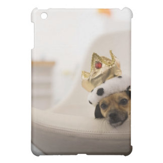 Dog with a crown cover for the iPad mini