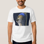 Dog with a pearl earring tee shirts