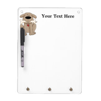 Dog With Bone (Personalized) Dry Erase Board