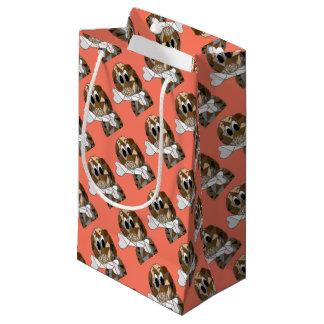 dog with bone small gift bag