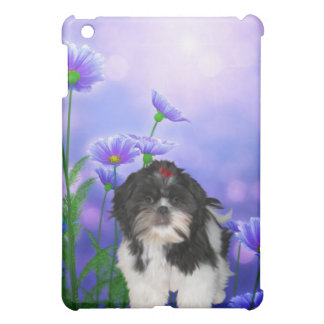 Dog with Flowers iPad Mini Cover