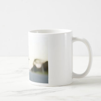 Dog with head out of a car window mug