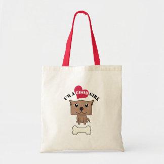 Dog with heart Bag2 Budget Tote Bag