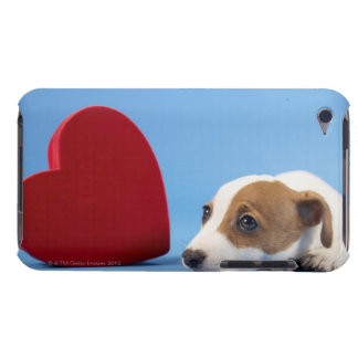 Dog with heart barely there iPod covers