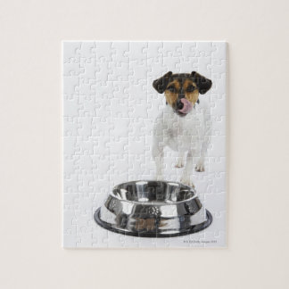 Dog with Large Bowl Jigsaw Puzzle