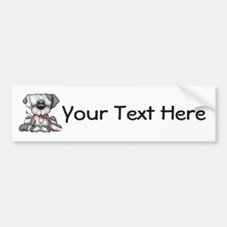 Dog With Leash (Customizable) Bumper Sticker
