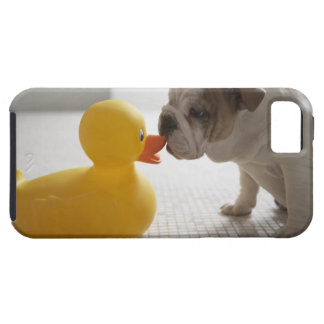 Dog with plastic duck iPhone 5 cases