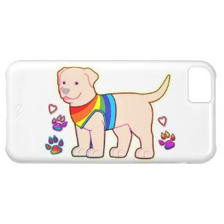 Dog with Rainbow Vest iPhone 5C Cases