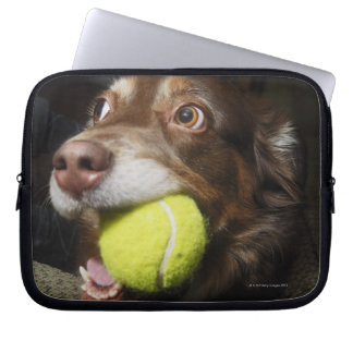 Dog with Tennis Ball Laptop Sleeve