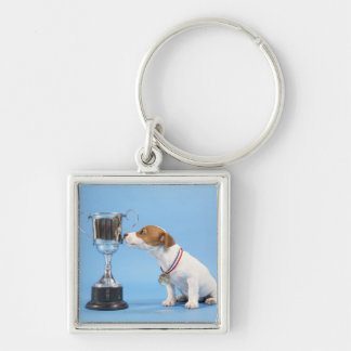 Dog with trophy key ring