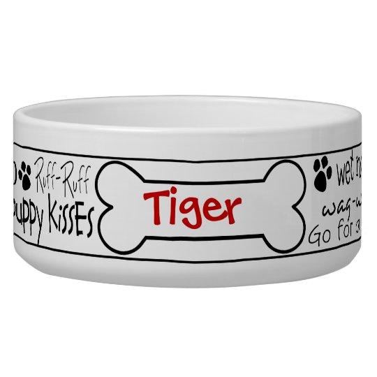 Dog Word Art Personalised Pet Bowl
