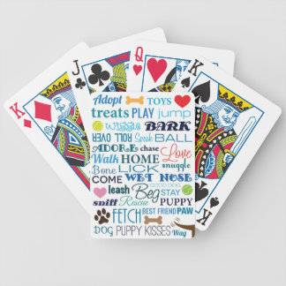 Dog Words Playing Cards