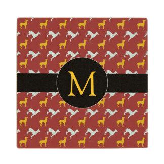Dog Year 2018 Zodiac Birthday Monogram Wood C Wood Coaster