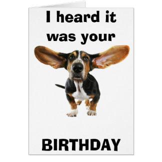 Dog Years, Birthday Card for 40th year Greeting Card