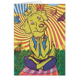 Dog Yoga Namaste Card