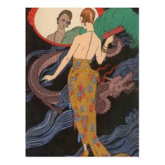 Dogaresse Evening Gown by George Barbier Postcard