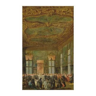 Doge Alvise Mocenigo IV  Giving a Banquet Canvas Print