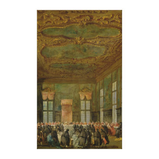 Doge Alvise Mocenigo IV  Giving a Banquet Stretched Canvas Print