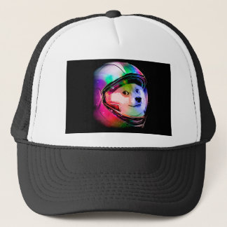 Doge astronaut-colorful dog - doge-shibe-doge dog trucker hat