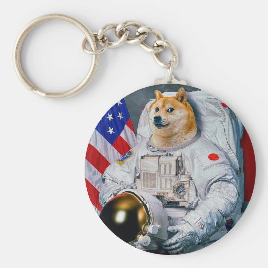 Doge astronaut-doge-shibe-doge dog-cute doge key ring