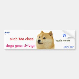 Doge Bumper Sticker Car Bumper Sticker