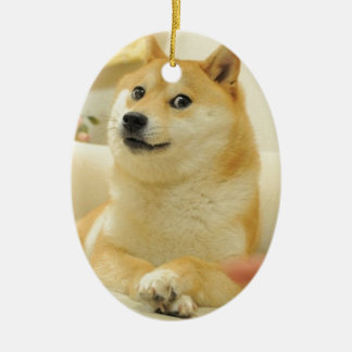 Doge Ceramic Oval Decoration