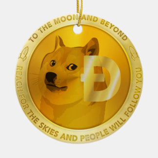 Doge Coin Circle Hanging Ornament