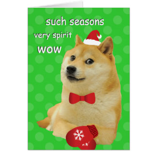 Doge Holiday Card