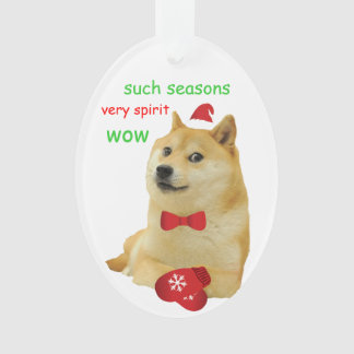 Doge Holiday Ornament